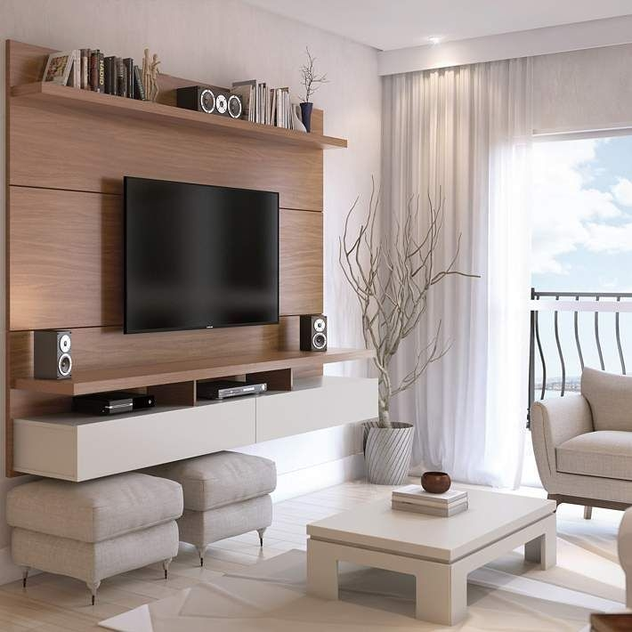 Stylish Bedroom Design Ideas With Tv Wall To Try Asap 15