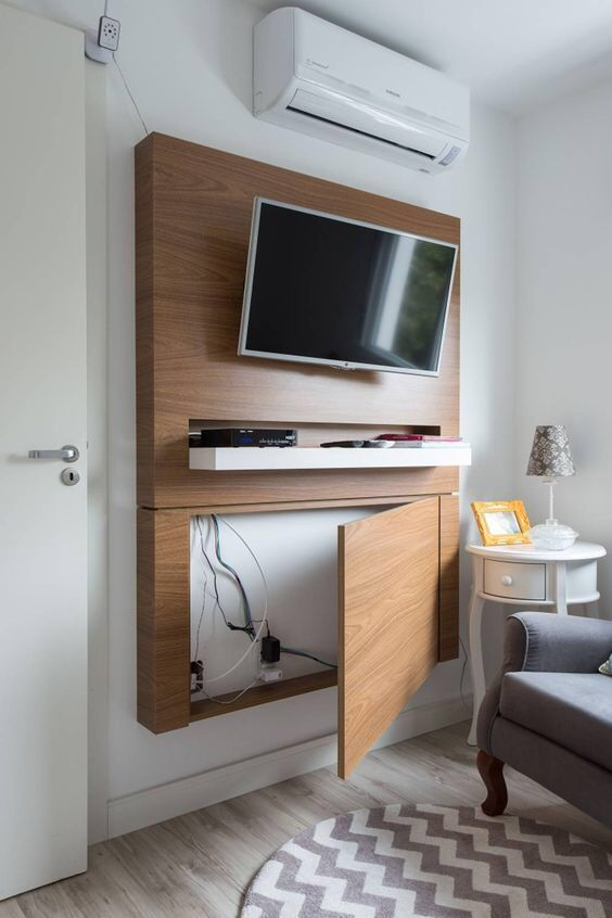 Stylish Bedroom Design Ideas With Tv Wall To Try Asap 20