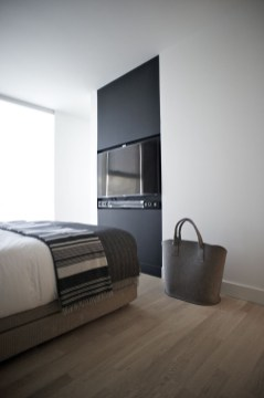 Stylish Bedroom Design Ideas With Tv Wall To Try Asap 32