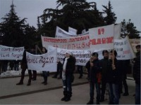 protesters marched in the streets of Stepanakert Nagorno Karabakh)