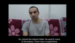 Screenshot of interview with Turkish citizen Huseyin Mustafa Peri, who was captured by the People's Protection Units.