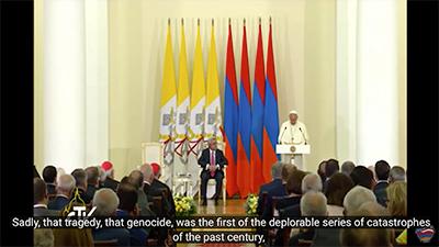 Pope speech armenian genocide