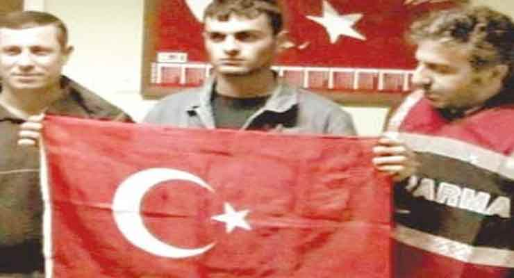Hrant dink killer turkish flag