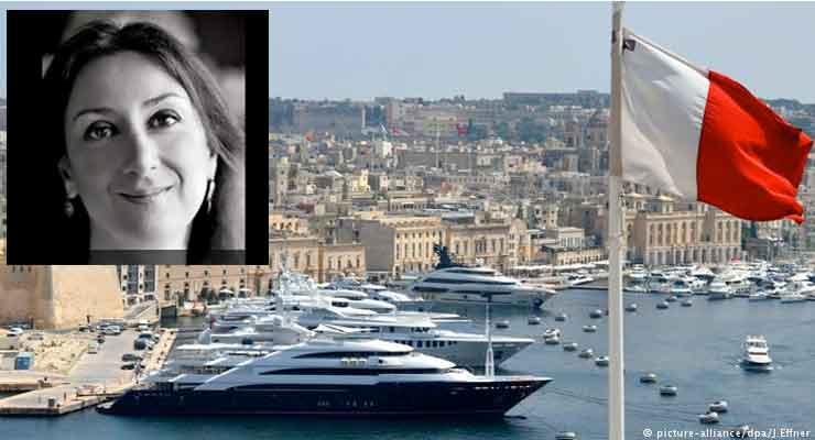 Daphne Caruana Galizia was killed by a car bomb on Monday
