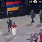 Armenian delegation at 2018 Winter #Olympic Parade in Pyeongchang