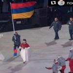 Armenian delegation at 2018 Winter #Olympic Parade in Pyeongchang