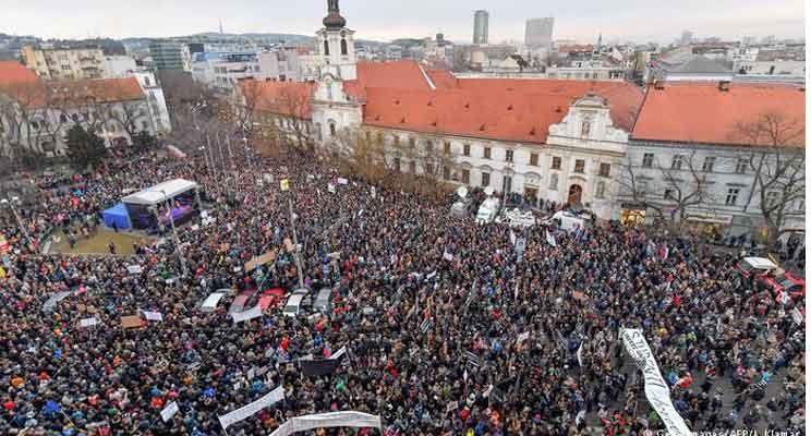 Slovakia protest largest