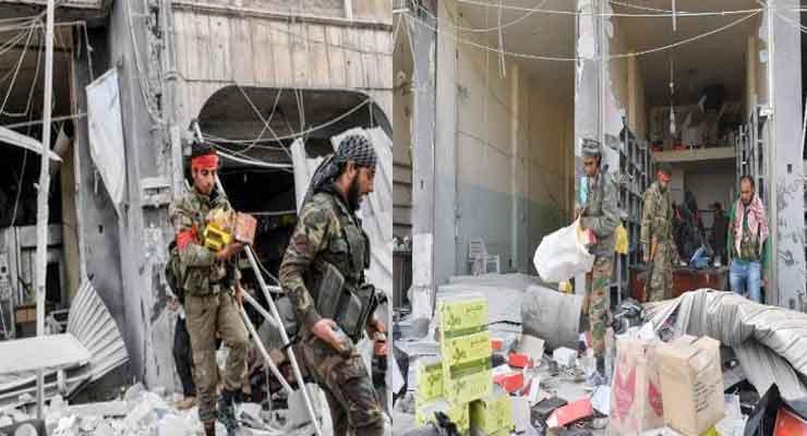 Turkish troops loot shop