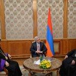 Armenia PM, hosted Karekin II Catholicos Catholicos Aram I  ongoing protests
