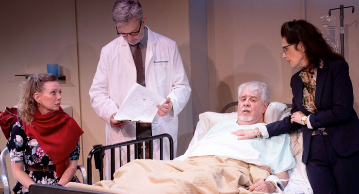 "Rachel Sorsa, from left, Robertson Dean, John Perrin Flynn and Leslie Ayvazian in ""100 Aprils."""