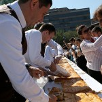 Armenian pastry chefs earn Guinness World Record for 6m long Gata