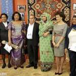 Wives of the leaders attending the 17th Francophonie summit visited Megerian Carpet company
