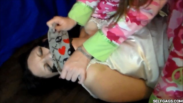tape gagged mom forced to smell daughters stinky socks selfgags