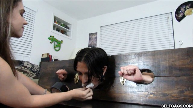 brat daughter gags mom with dirty panties