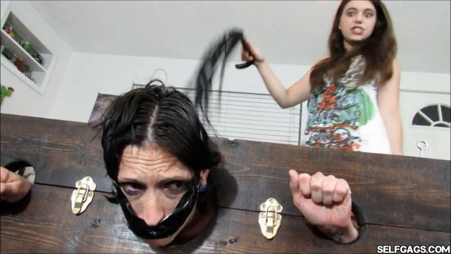 locked up mom tape gagged and ass whipped by daughter