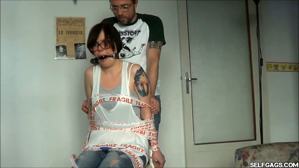 Annoying Girlfriend Receives A Time Out In Bondage