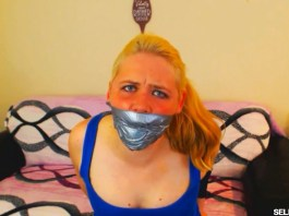 Tape Gagged Blonde