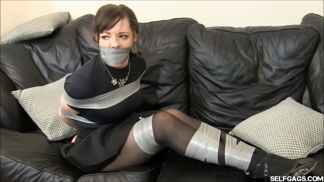 helpless girl tape bound and tape gagged selfgags