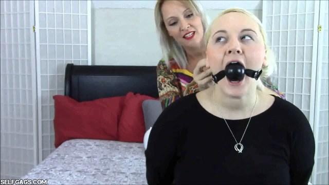 mom ball gags daughter selfgags