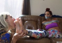 latina girl foot licked by milf woman selfgags