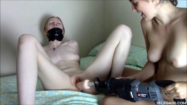 machine fucked girl selfgags
