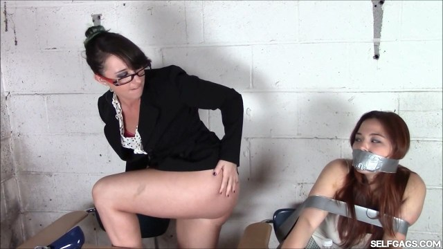 Teacher dominates bondage student