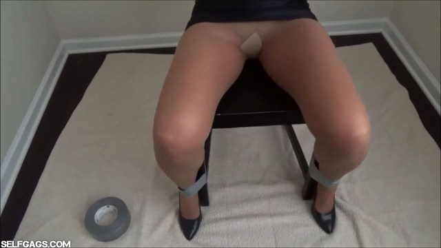 Pantyhose milf chairtied upskirt