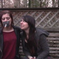 Forcing Little Sister To Smoke Through Hand Over Mouth And Tape Gag!