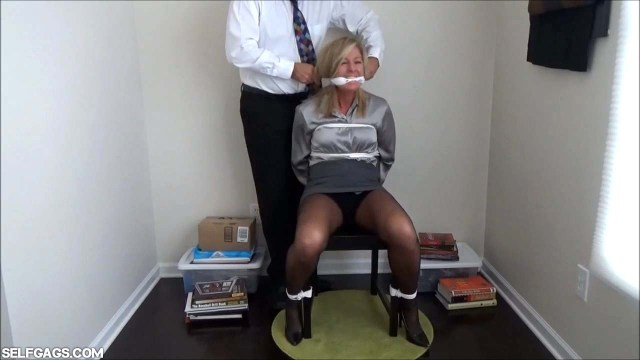Chair tied school teacher cleave gagged