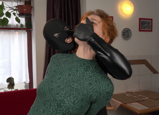 Girl Hand Gagged By Catburglar