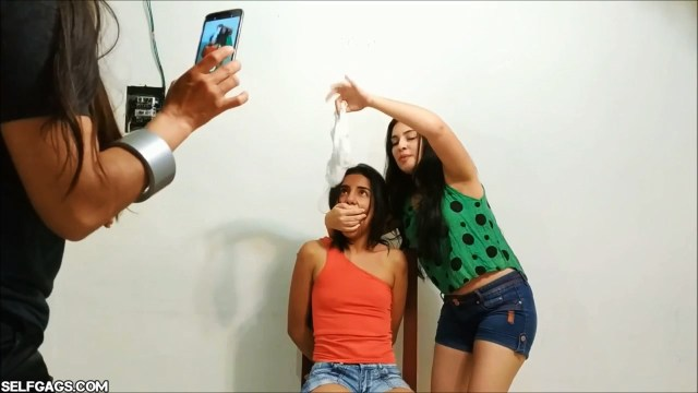 latina instagram girl gagged by mother and sister