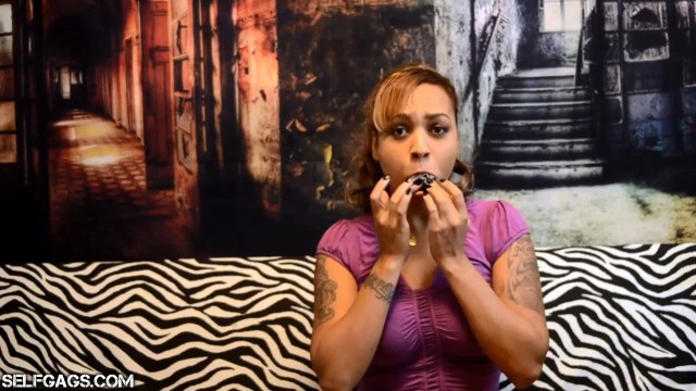 latina girl gagged with her own dirty panties