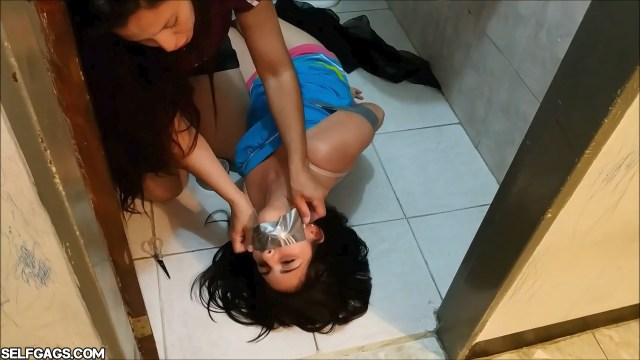 Latina daughter bound and gagged by her mom