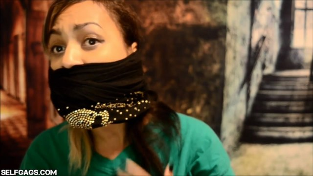 amateur latina over the mouth gagged