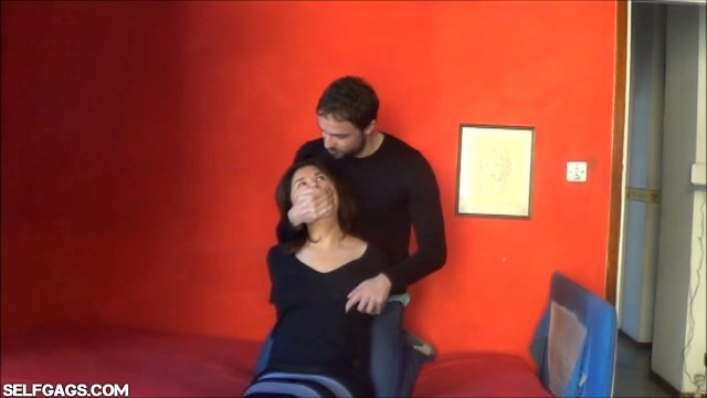 cheating girlfriend gets bound and gagged by her ex