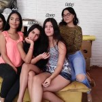 Five beautiful latina girl friends