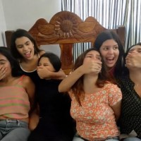 Multiple Latina Girls Hand Gagged And Smothered By Friends