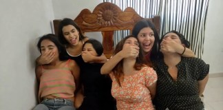 Multiple latina girls does sexy handsmother bound handgag friends stuck in bondage