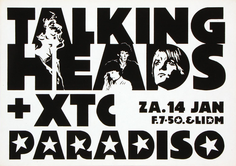 paradiso poster, Martin Kaye, Talking Heads