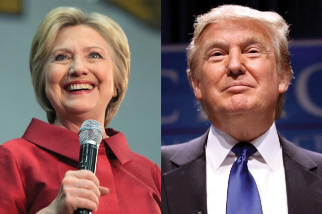 2016 presidential candidates Hillary Clinton and Donald Trump.
