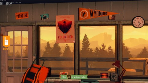 Inside the Lookout Tower - Firewatch