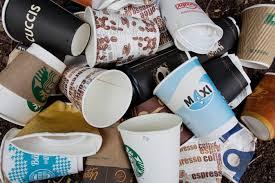 Einweg Müll Pappbecher