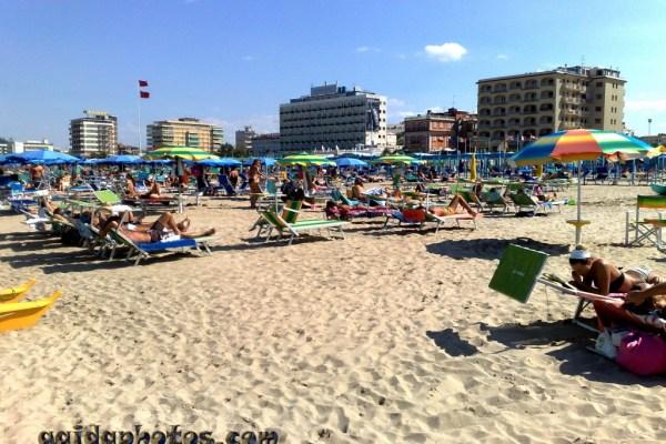 Italien Urlaub Strand Riccione