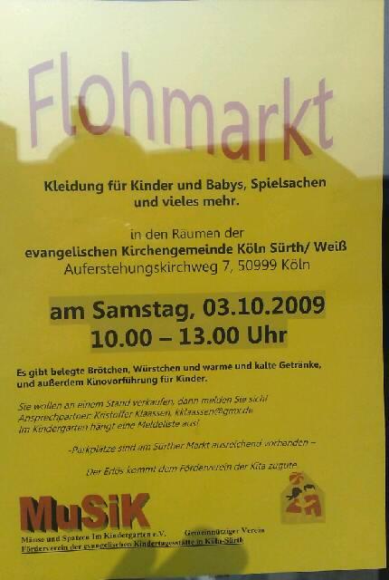 Köln Rodenkirchen Einkaufen: Flohmarkt in Sürth