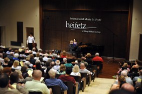 A performance at the Heifetz Music Institute in Staunton, Virginia
