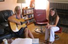 Singing with mentee Holly
