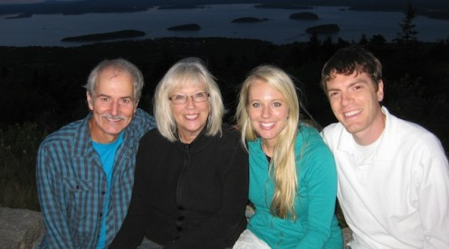 With Caleb and Emily in Maine