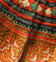 Detail, Hmong Skirts from Various Tribal Locations, Vietnamese Museum of Ethnology, Hanoi . Photo © Penny Peters
