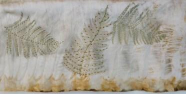 © Linda Ingham - hand embroidery on eco dyed fabric