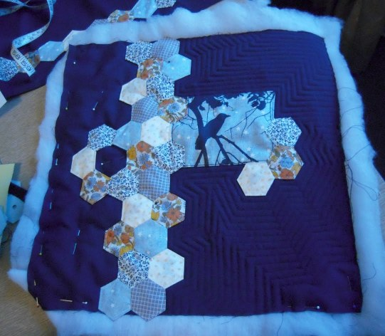 quilting the crow pillow